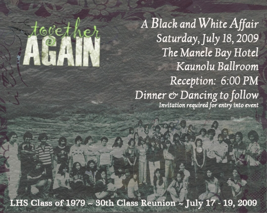 1979, 30th class reunion